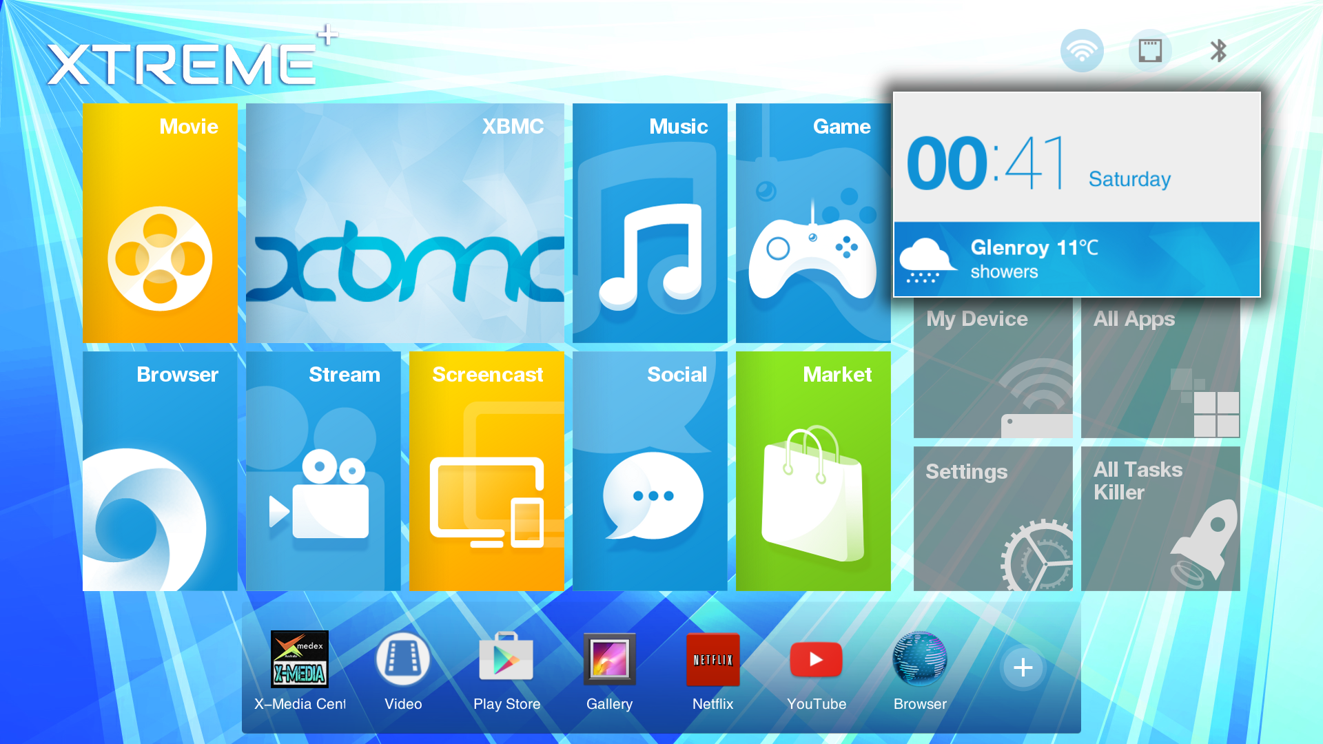 xmedex xtreme android launcher UI
