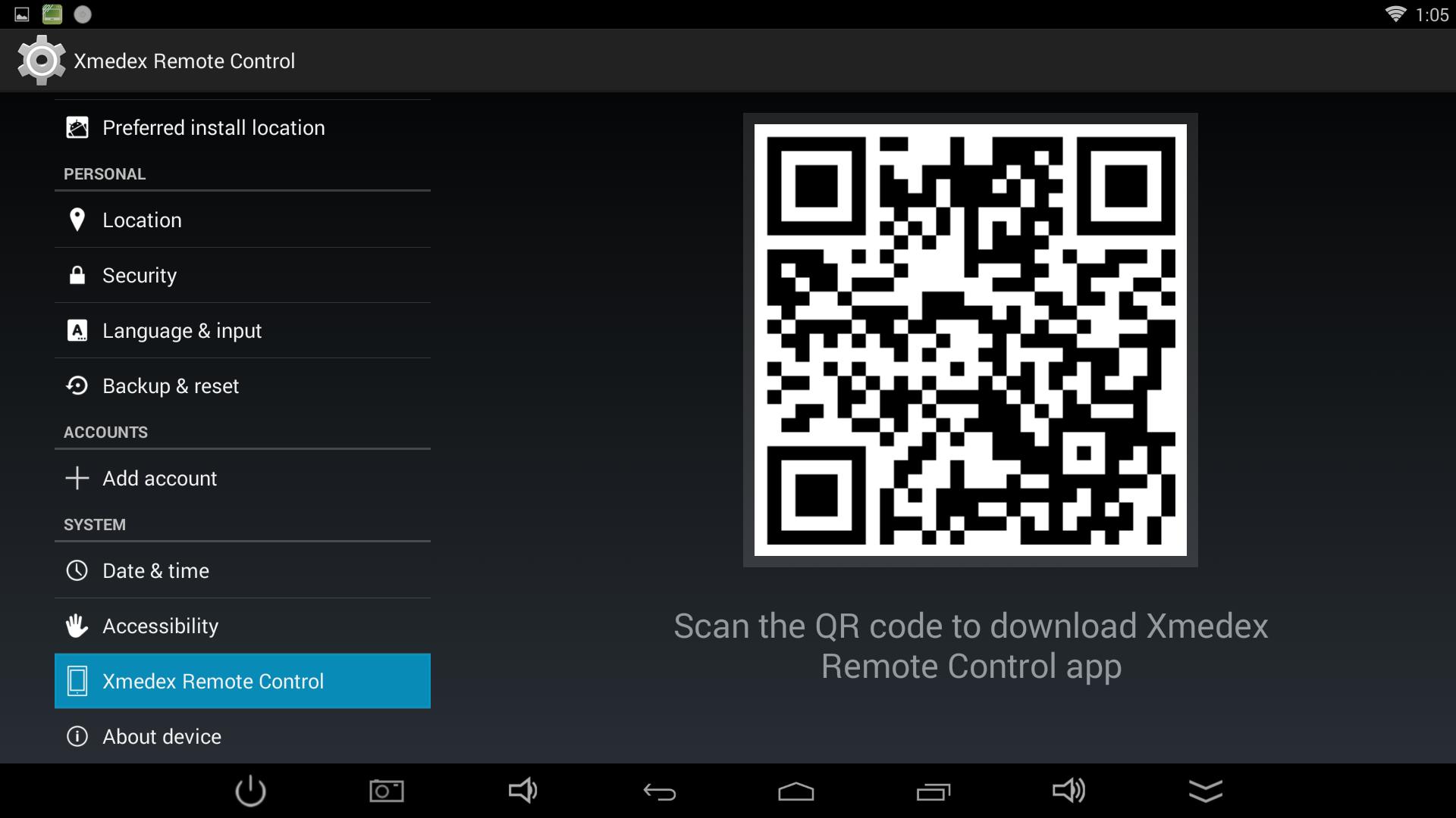 xmedex remote control app