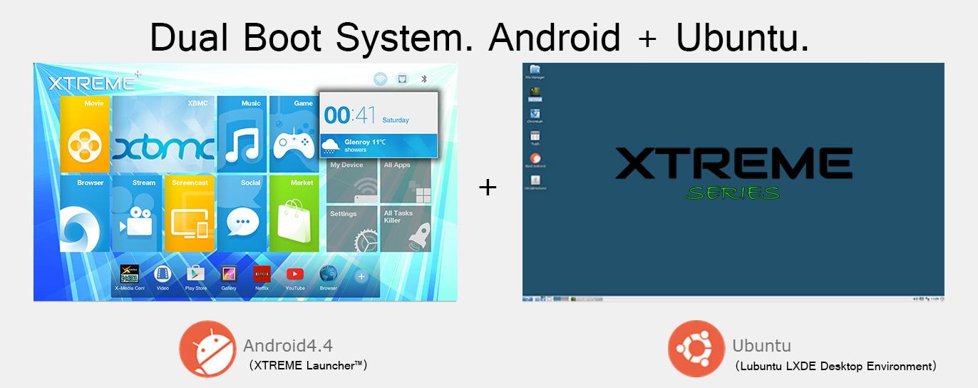 dual boot system android ubuntu lubuntu