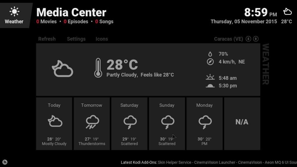 kodi weather australia