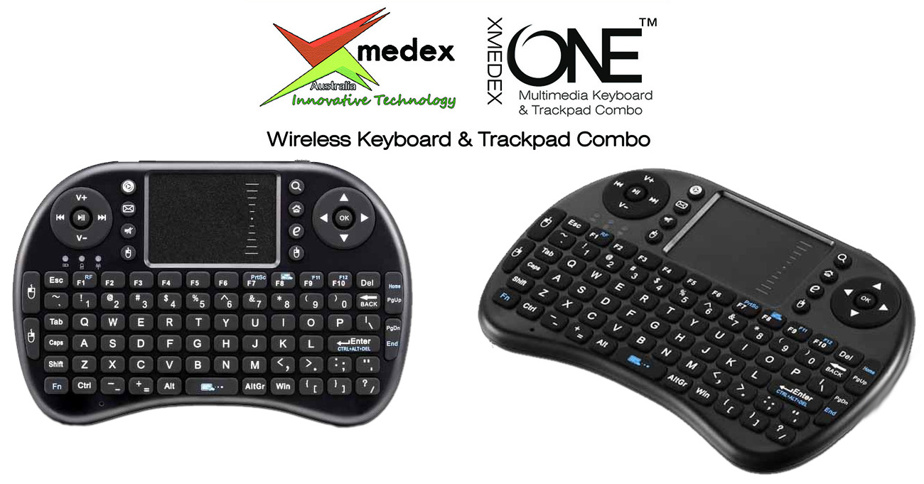 xmedex one deluxe wireless android keyboard trackpad