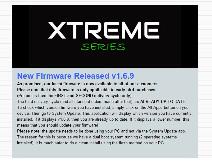 new firmware rk3288 xtreme plus