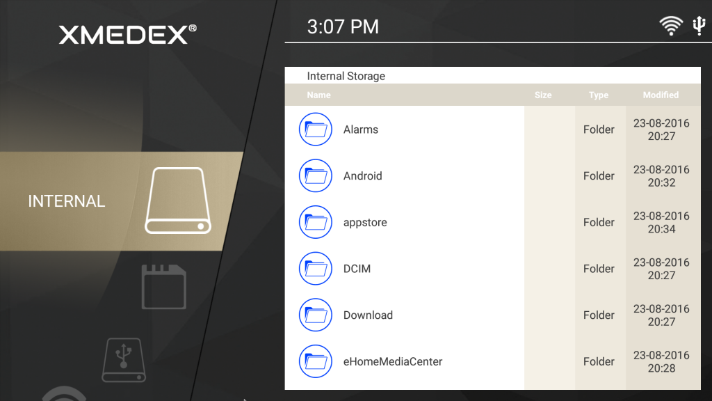 xmedex file manager app android tv box